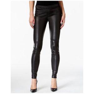 Michael Kors Faux Leather Leggings Black